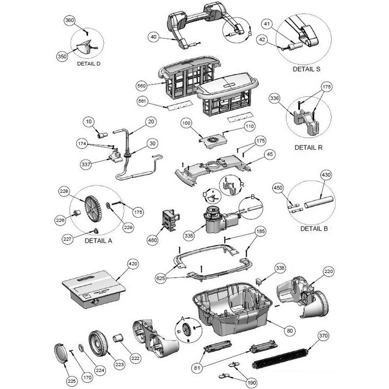 robot-piscine-o'clair-d10-vue-eclatee